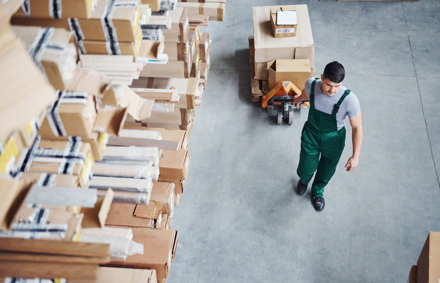 Busy Warehouse Worker