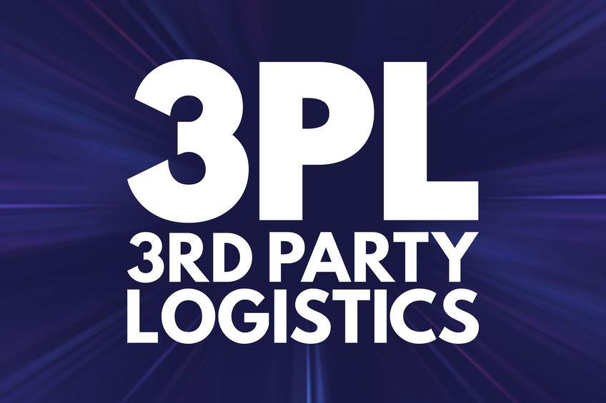 3PL - 3rd Party Logistics acronym, business concept background