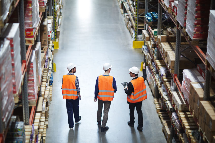 Group of Workers in Warehouse